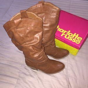 Cognac Heeled Boots